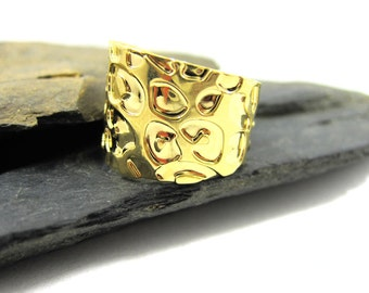 Shiny Gold leopard Ring, Print Ring, pattern jewelry, Bridesmaids Gift, Animal jewelry, Gift for her, Boho rings, Wrap ring, Adjustable ring