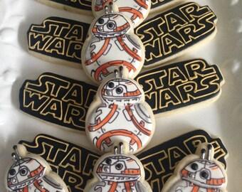 STAR WARS BB8 sugar cookies
