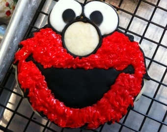 ELMO & COOKIE MONSTER sugar cookies