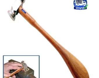 "Jewelry Chasing Hammer 1"" Flat Face 25mm Repousse Hammers Silversmith Goldsmith WA 302-040"
