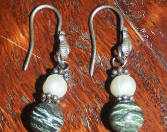 Leopard Jasper Drop Earrings