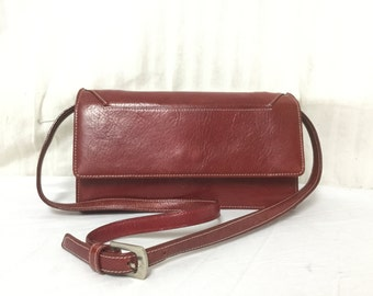 Tusk Leather purse,bag,Red Leather ,Shoulder Bag,bags,purses