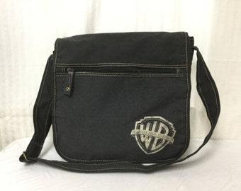 Canvas Messenger bag,Warner Brothers ,Black,canvas,  Shoulder ,Cross Body bag