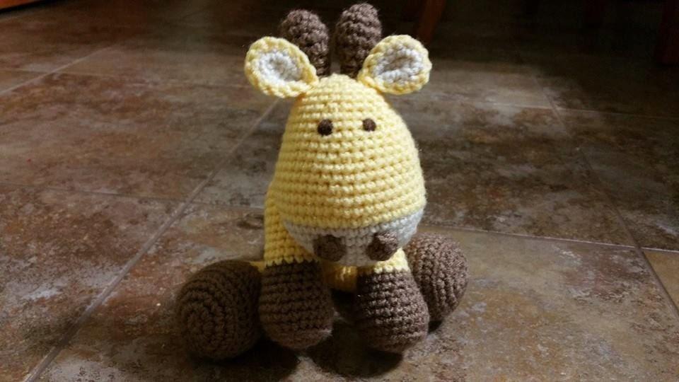 Cuddly Amigurumi Giraffe : Cute Cuddly Rafi the Crochet Giraffe