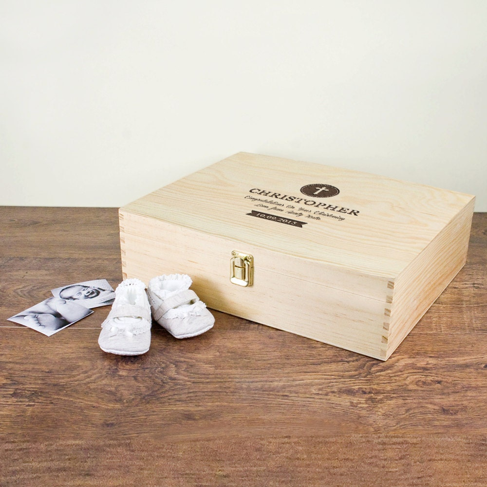 Baptismal Souvenir Message 84 Best Baptism Christening: Christening Memory Box With Special Message Gift For Baby