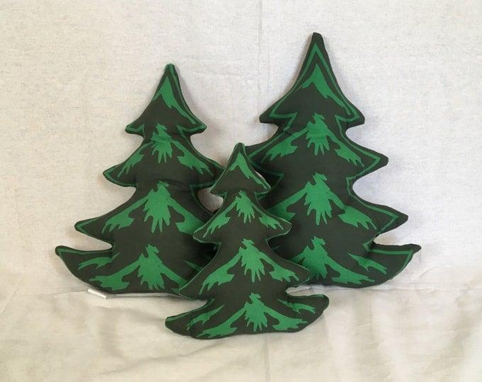 Pine tree decorative pillow - 3 set