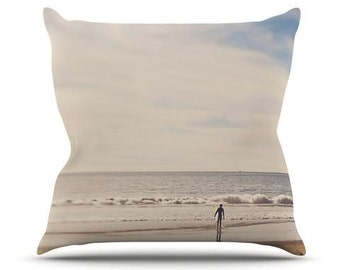 "Indoor Throw Pillow - Brown Gray Beach Sand Myan Soffia ""Ritual"" MC1003A Great Gift Idea!"
