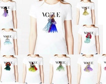 Women Tshirt Cotton Casual Shirt tattoo vogue princess snow white Print