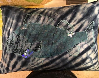 Handcrafted Nautical fish Pillow
