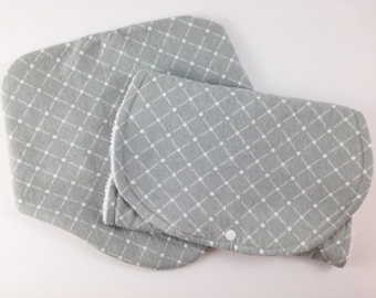 Burp Cloth Set - Baby Must Haves - Baby Bibs and Burp Cloths - Bib and Burp Cloth Set - New Baby Gift Set - Gray Tuft