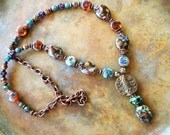 Patina copper necklace, Picasso necklace, boho chic necklace, southwestern necklace, victorian necklace, gypsy necklace, hippee necklace