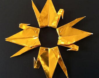 """100 3"""" Gold Origami Paper Cranes - Wedding Decoration, Party Decoration, Events"""