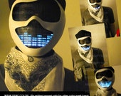 Robot Mask Rave Mask - Light Up Mask STG0 /Sound Reactive Mask for DJ Gigs Glow Party Rave Edm watchdog Cyborg Cosplay Robot Costume