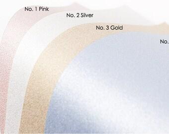 Pearl Color Glitter Felt 20cm × 29cm squares 1.8mm Thickness