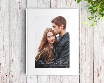 Personalized Wedding Guest Book, Photo GuestBook, Photo Wedding Guest Book, Unique Wedding Guest Book Alternative, SKU: GB 086