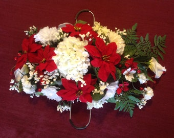 Cemetary Flowers-Christmas Saddle