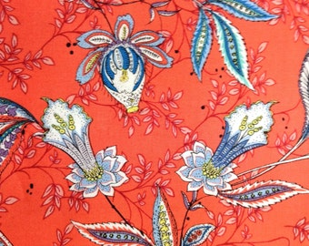 One Half Yard of Fabric Material - Julie Vine Red
