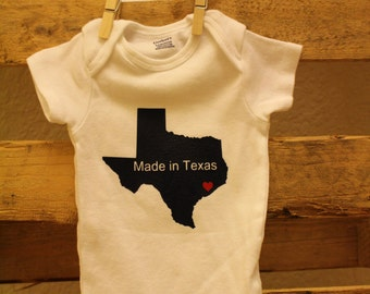 Made in Texas onesie - Any State can be created - Baby onesie - Baby shower gift