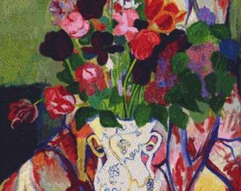 Bouquet of Tulips PDF Cross Stitch Pattern