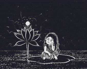 SALE **Half Price** Fairy Tale Girl PDF Cross Stitch Pattern