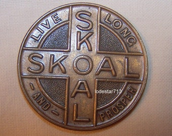 Vintage Skoal Chewing Tobacco Token, Skoal Brass Medallion, Chewing Tobacco Collectable