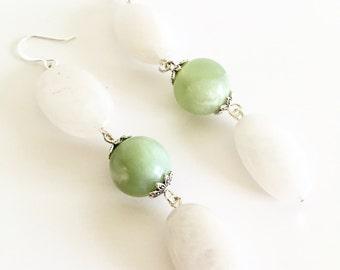 White Jade Earrings