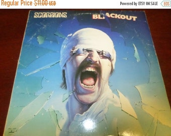 Save 15% Today Vintage 1982 LP Record The Scorpions Black Out Mercury Records SRMI-4039
