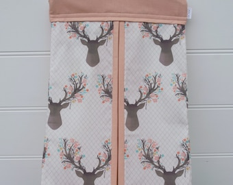 Nappy Stacker - Diaper Stacker with Pink Deer Head Print