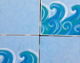 Ocean Tile Coasters