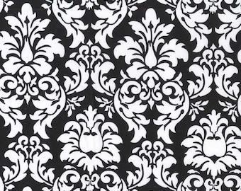 Black & White Damask Cotton Fabric [[by the half yard]]