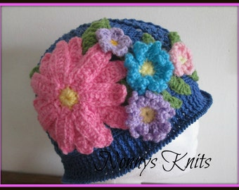 Crochet Cotton Panama Hat - size teen