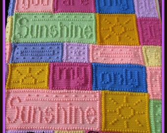 You are my Sunshine Afghan/Blanket