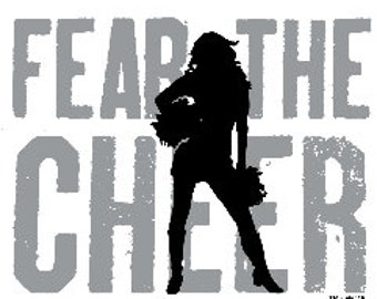 Cheer T Shirt/ Cheer Shirt/ Cheer Clothing/ Cheerleader T Shirt/ Cheerleader Gift/ Cheer/ Fear The Cheer Cheerleader Short Sleeve T-Shirt