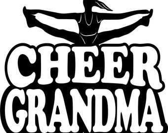 Cheer Grandma Shirt/ Cheer Grandma/ Girl Splits Cheer Grandma T Shirt/ Cheer Shirt/ Many Colors