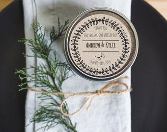 4oz Tin Wedding Favour Candle