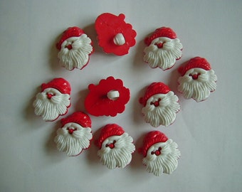 10 father christmas buttons