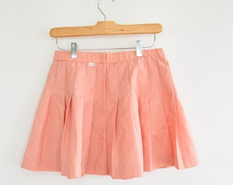 "Pleated Nylon Tennis Skirts Peach Color Lily's of Beverly Hills Only the Peachy Pink one is Left-ls  28"" waist"
