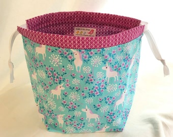 SockSack Sock Knitting Bag Small Knitting Project Bag
