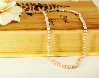 Pink & Pearl Necklace - Toggle Clasp - Wedding Gift - Bridesmaids