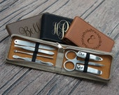 Personalized Manicure Kit Engraved with Choice of Monogram Design & Font from Our Selection (Each - Seven Piece Set)