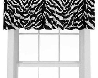 ArtOFabric Decorative Cotton Zebra Print Curtain/Valance Window Decor