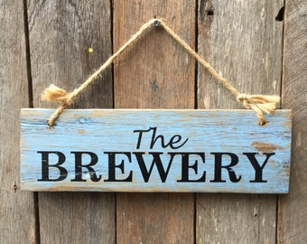 Rustic Wooden Signs Made From Reclaimed Wood