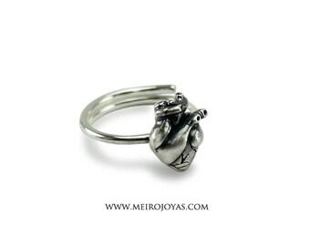 Heart Ring Sterling Silver / Anillo Corazon Plata 925