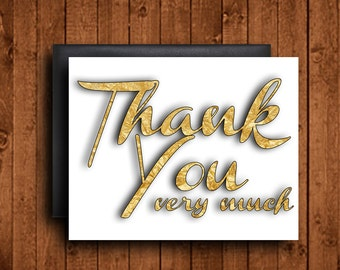 Thank You Card - Instant Download