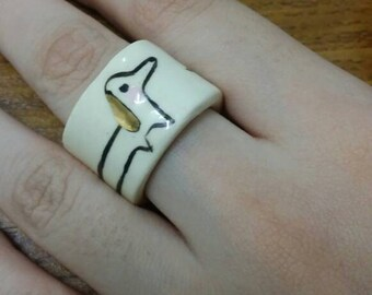 Ceramic dog ring