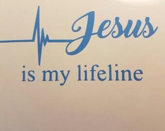 Jesus is my lifeline Car Decals