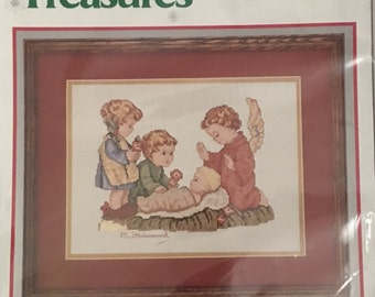 Counted Cross Stitch Needle Treasures Kit Silent Night by Hummel