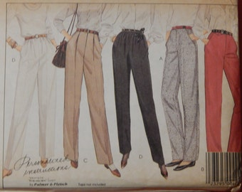 Vintage pants pattern McCall's 9267 Fit as you sew system by Palmer & Pletsch pants Uncut Size 10
