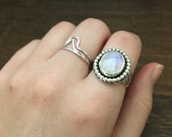 Moonstone Statement Ring // Sterling Silver