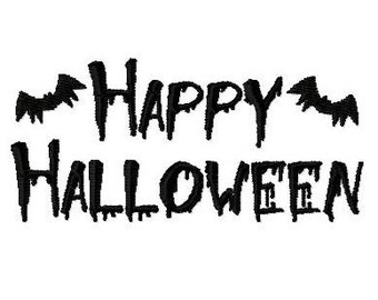 Embroidery Design Happy Halloween 1 - DIGITAL DOWNLOAD PRODUCT